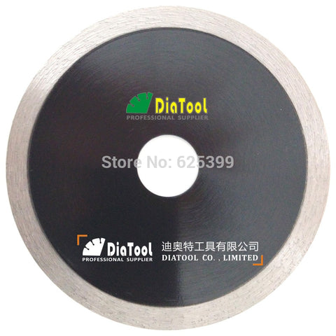 "DIATOOL 2pcs 4.5""/115mm Hot-pressed Continue Rim Cutting Diamond Blade Ceramic Tile Sawblade Thin Cutting Disc Diamond Wheel - Dashing Blade"