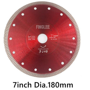 "7"" (180mm)  Wave Style Diamond Saw Blade for Porcelain tile ceramic - Dashing Blade"
