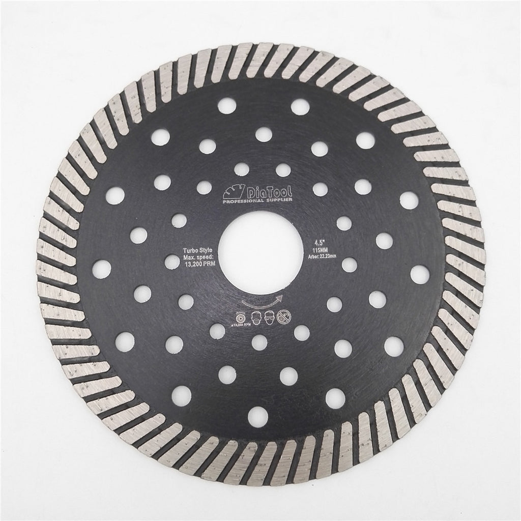 "DIATOOL 4.5""/5""/7""/9"" Diamond Hot Pressed Turbo Blade Cutting Disc Granite Marble Sawblade Diamond Circular Saw Blades Wheel - Dashing Blade"