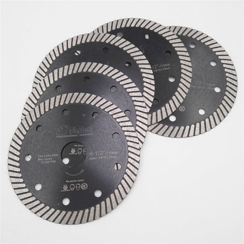 "Image of Set of 5 x 4.5"" Inches super-thin turbo diamond blades - Dashing Blade"
