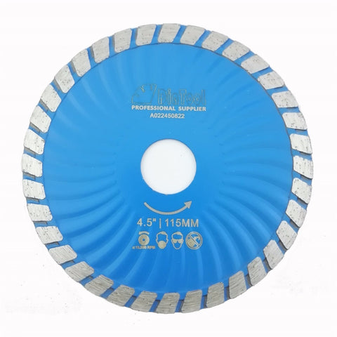DIATOOL Diamond Waved Blades Diameter 115MM 125MM Hot pressed Diamond Turbo Blade For Stone Concrete Cutting - Dashing Blade