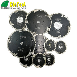DIATOOL Hot pressed Diamond turbo Blade with Slant Triangle teeth Diamond cutting disc for Multi puprose Grinding wheel - Dashing Blade