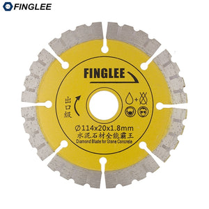 FINGLEE 1Pc 4.5 inch Dry Cutting Disc, Diamond Saw Blade for Concrete,Stone,Marble,Granite,Ceramic Tile,Segment Cutting Blade - Dashing Blade