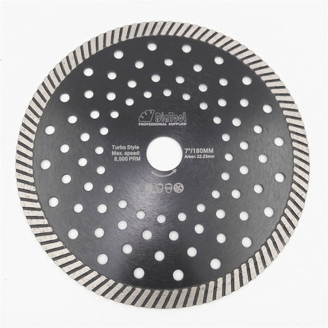 "7"" (180 mm) Diamond Hot Pressed Turbo Blade - Dashing Blade"