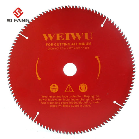 "10"" (250 mm) Carbide Circular Saw Blade For Wood  40T 60T 80T 100T 120T - Dashing Blade"