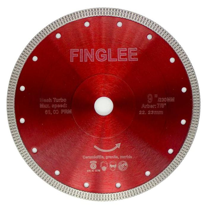 "9"" (230 mm) Wave Style Diamond Saw Blade for Porcelain tile ceramic - Dashing Blade"