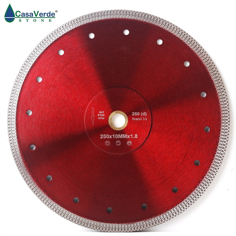 Free shipping DC-SXSB08 10 inch super thin diamond porcelain saw blade 250mm for porcelain and ceramic tile cutting - Dashing Blade