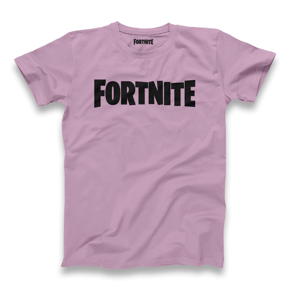 Fortnite Black/Lavender Logo Tee