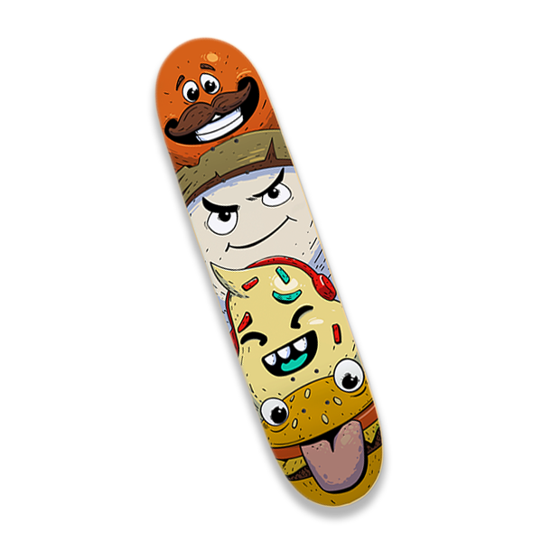 Foodies Skate Deck