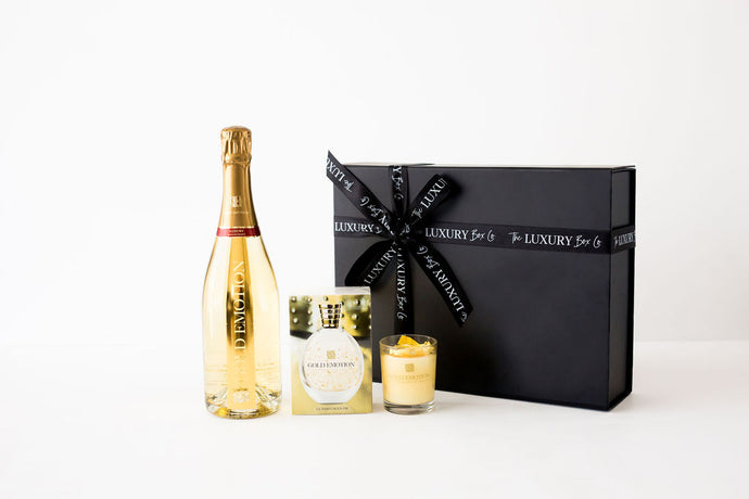 THE LUXURY GIFT BOX - FILLED WITH 24K GOLD PRODUCTS BY GOLD EMOTION.