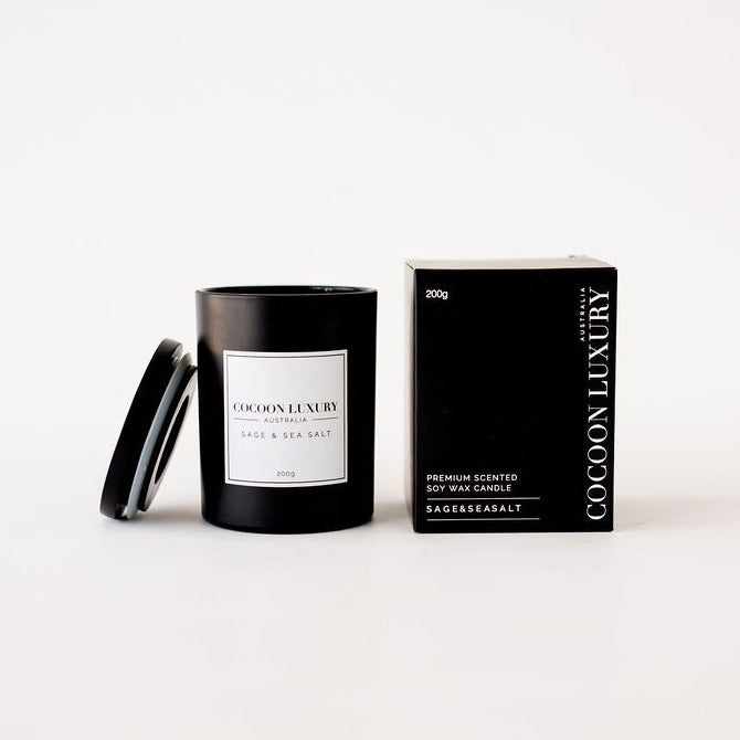 Cocoon Luxury Candle - Sage and Sea Salt