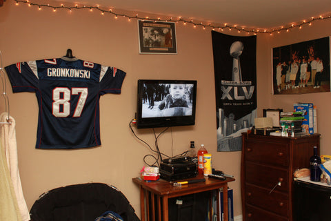 hang a football jersey on your wall