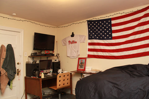 phillies jersey in a dorm room