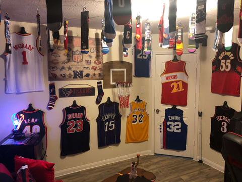 basketball jersesy hung with Jersey Genius