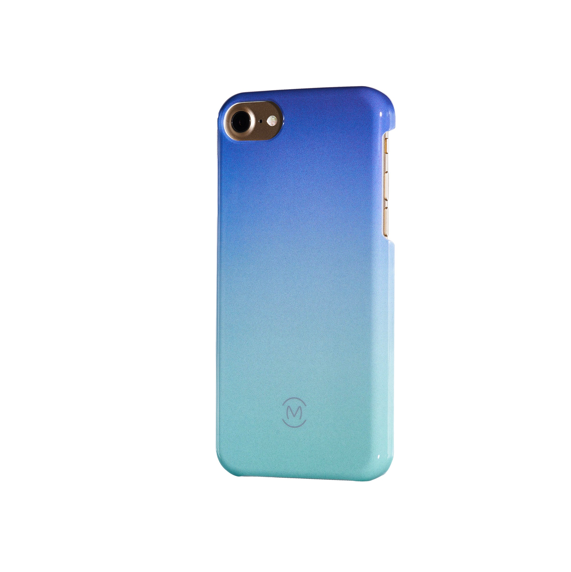 Blue-Turquoise Gradient Blue Atoll Recyclable Phone Case by Movement for iPhone 8, iPhone 7, iPhone 6s, and iPhone 6 (Right)
