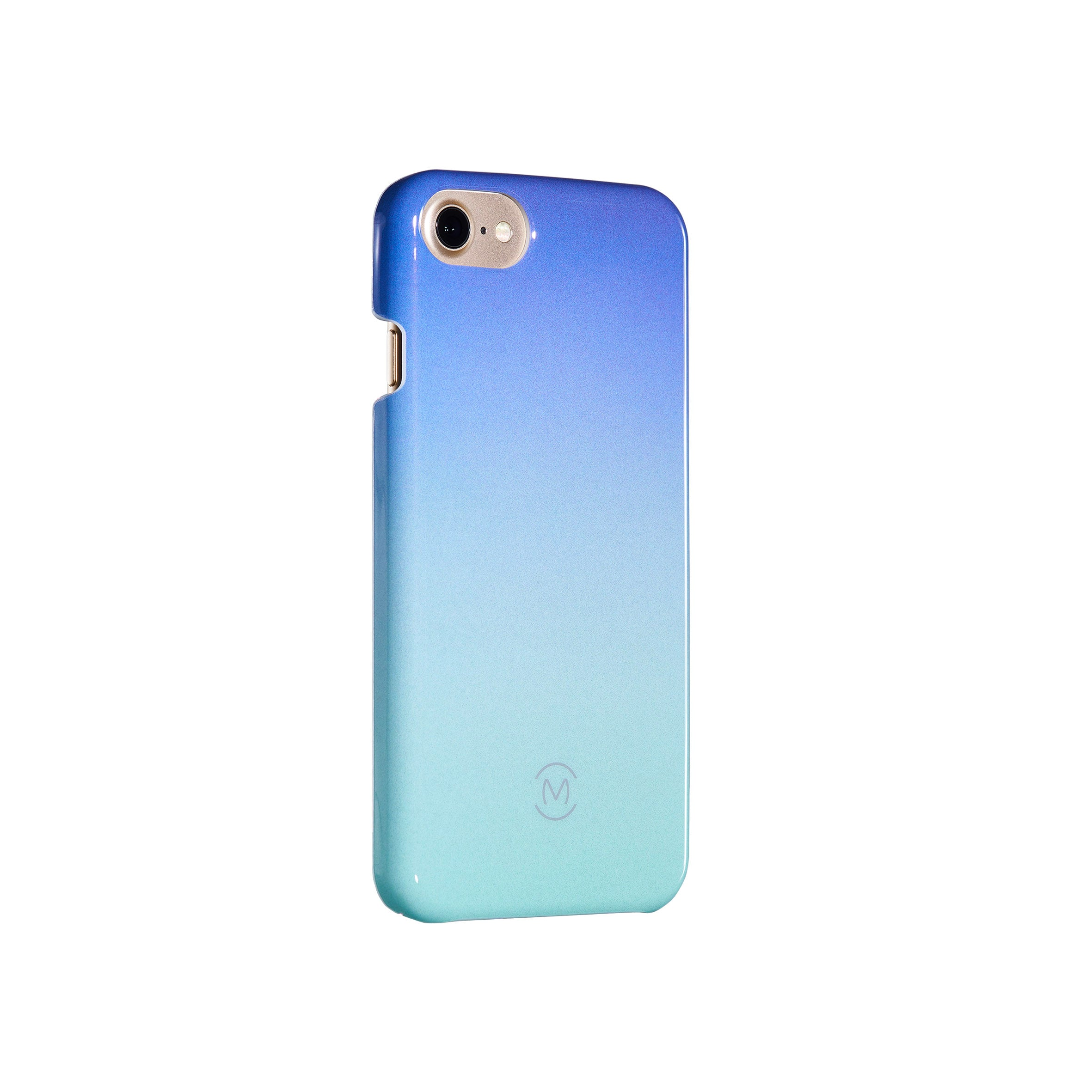 Blue-Turquoise Gradient Blue Atoll Recyclable Phone Case by Movement for iPhone 8, iPhone 7, iPhone 6s, and iPhone 6 (Left)
