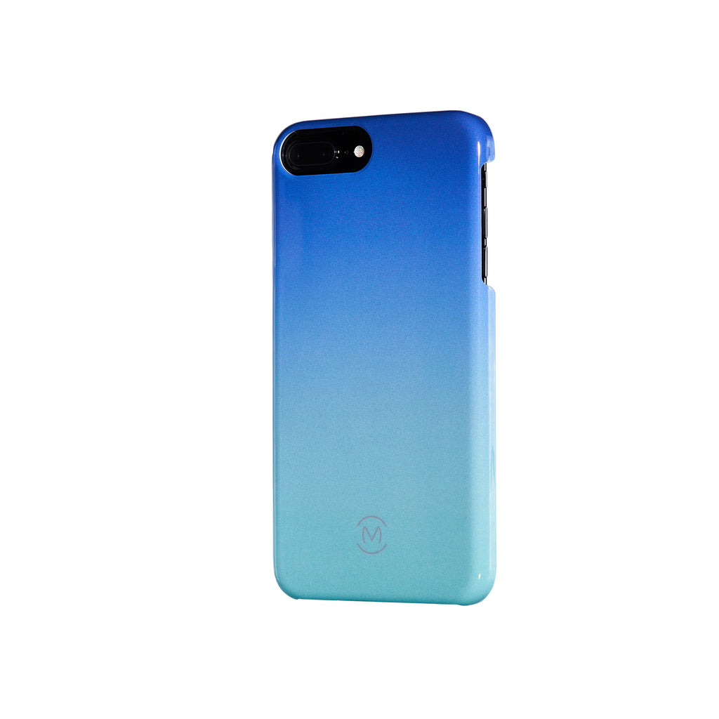 Blue-Turquoise Gradient Blue Atoll Recyclable Phone Case by Movement for iPhone 8 Plus, iPhone 7 Plus, iPhone 6s Plus, and iPhone 6 Plus (Right)