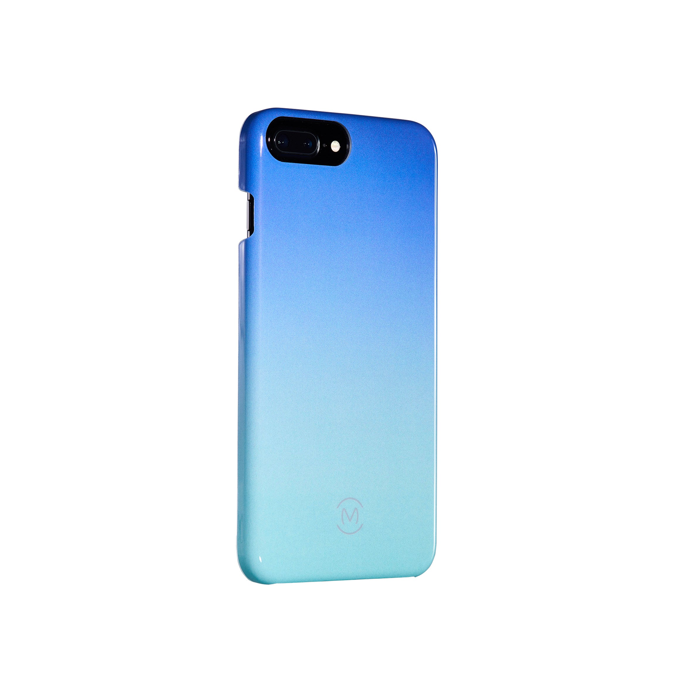 Blue-Turquoise Gradient Blue Atoll Recyclable Phone Case by Movement for iPhone 8 Plus, iPhone 7 Plus, iPhone 6s Plus, and iPhone 6 Plus (Left)