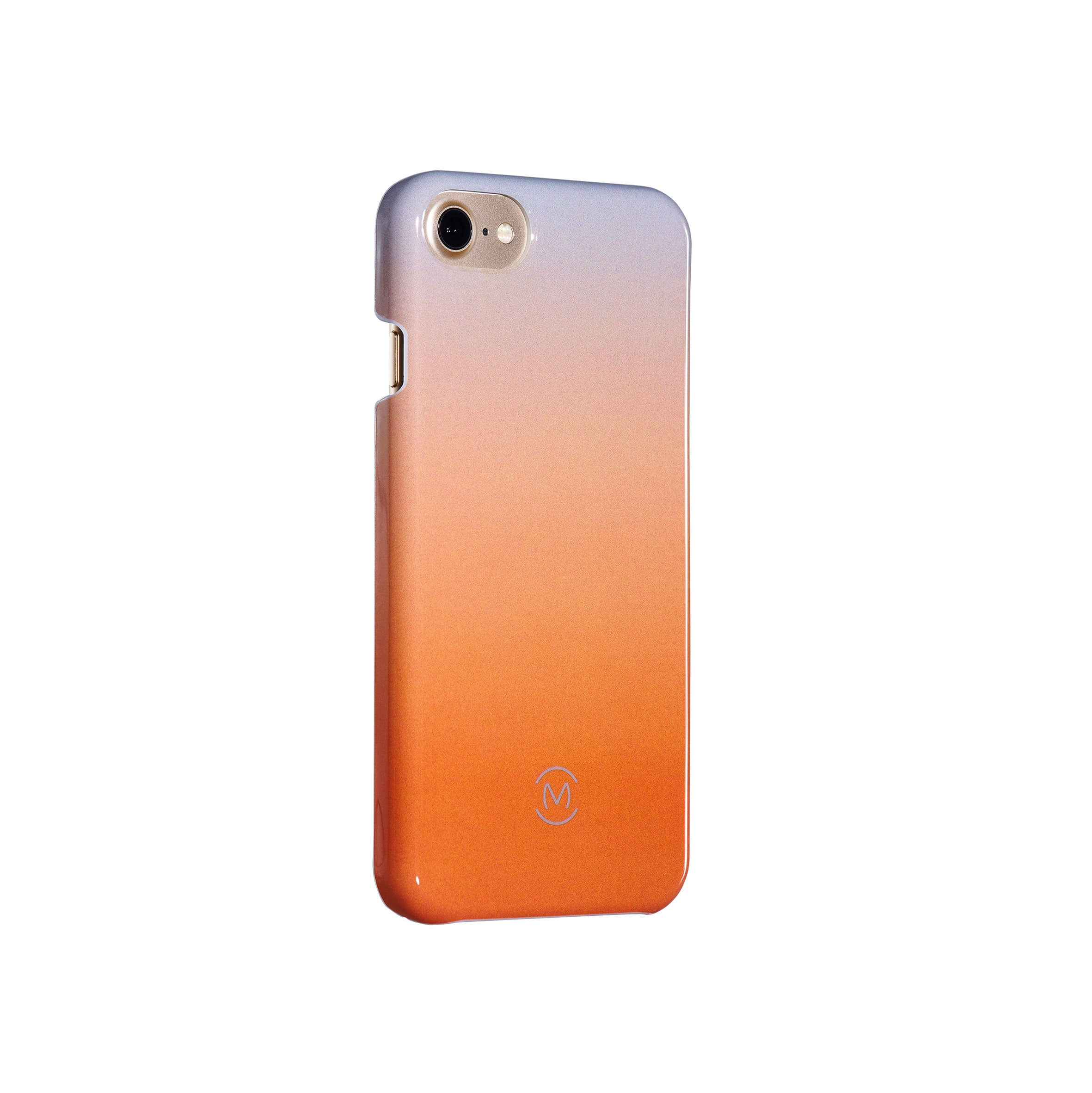 Gray-Orange Gradient Harvest Moon Recyclable Phone Case by Movement for iPhone 8, iPhone 7, iPhone 6s, and iPhone 6 (Left)