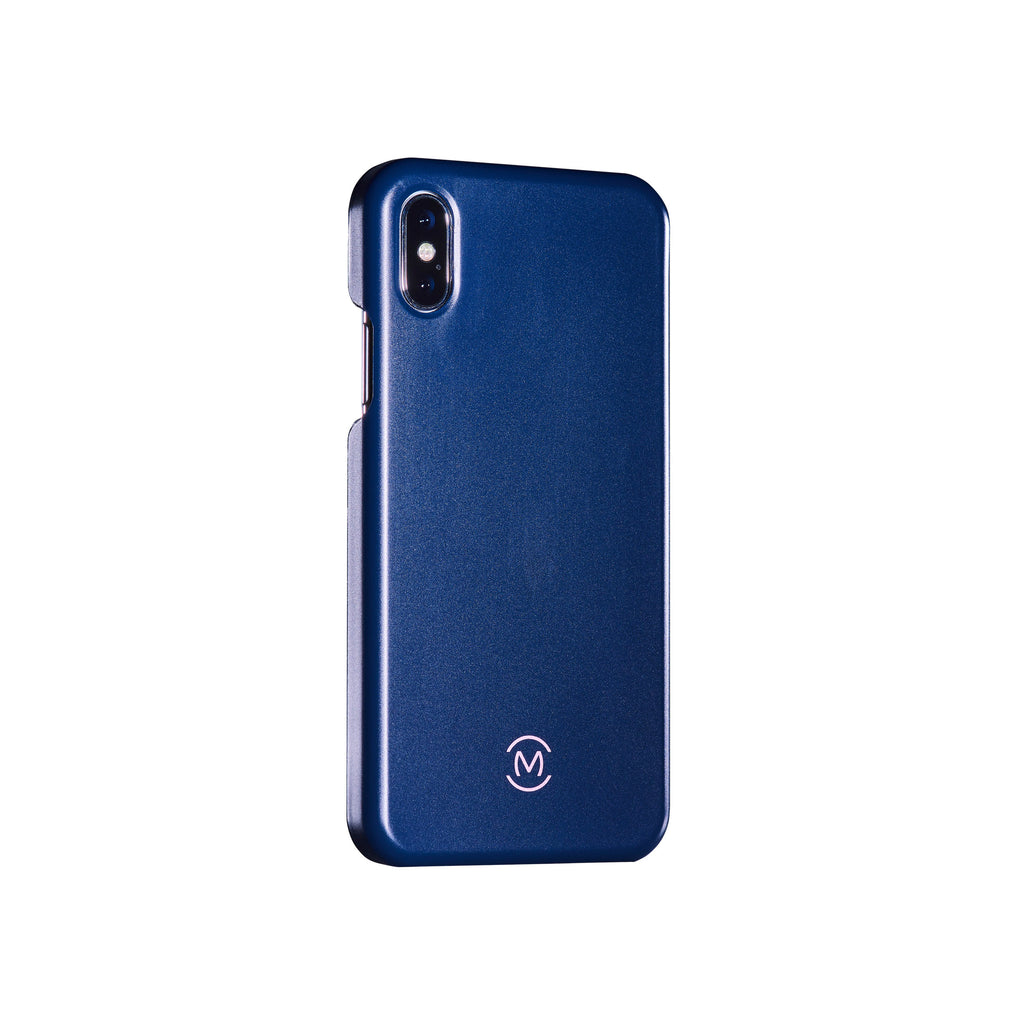 Navy Matte Lapis Lazuli Phone Case by Movement for iPhone X (Right)