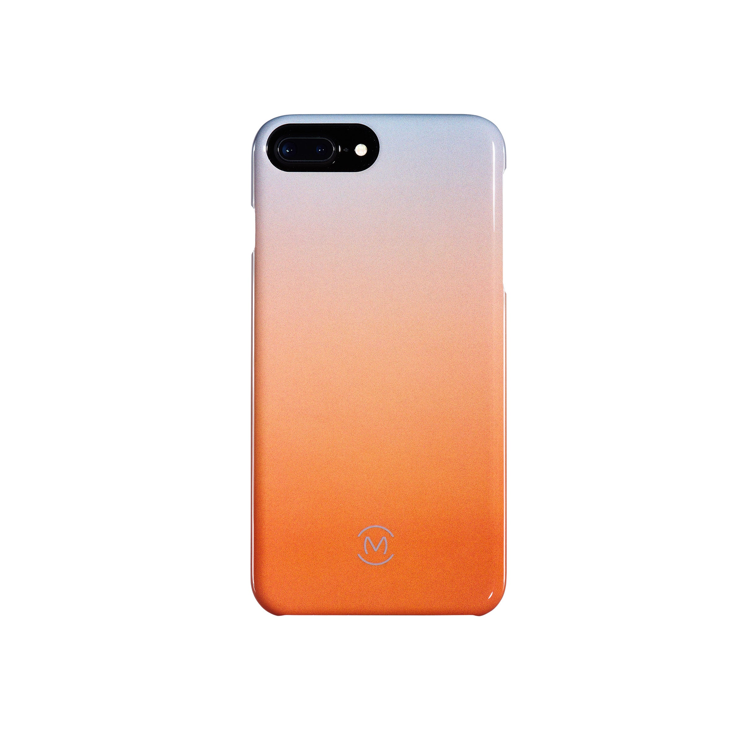 Gray-Orange Gradient Harvest Moon Recyclable Phone Case by Movement for iPhone 8 Plus, iPhone 7 Plus, iPhone 6s Plus, and iPhone 6 Plus (Back)