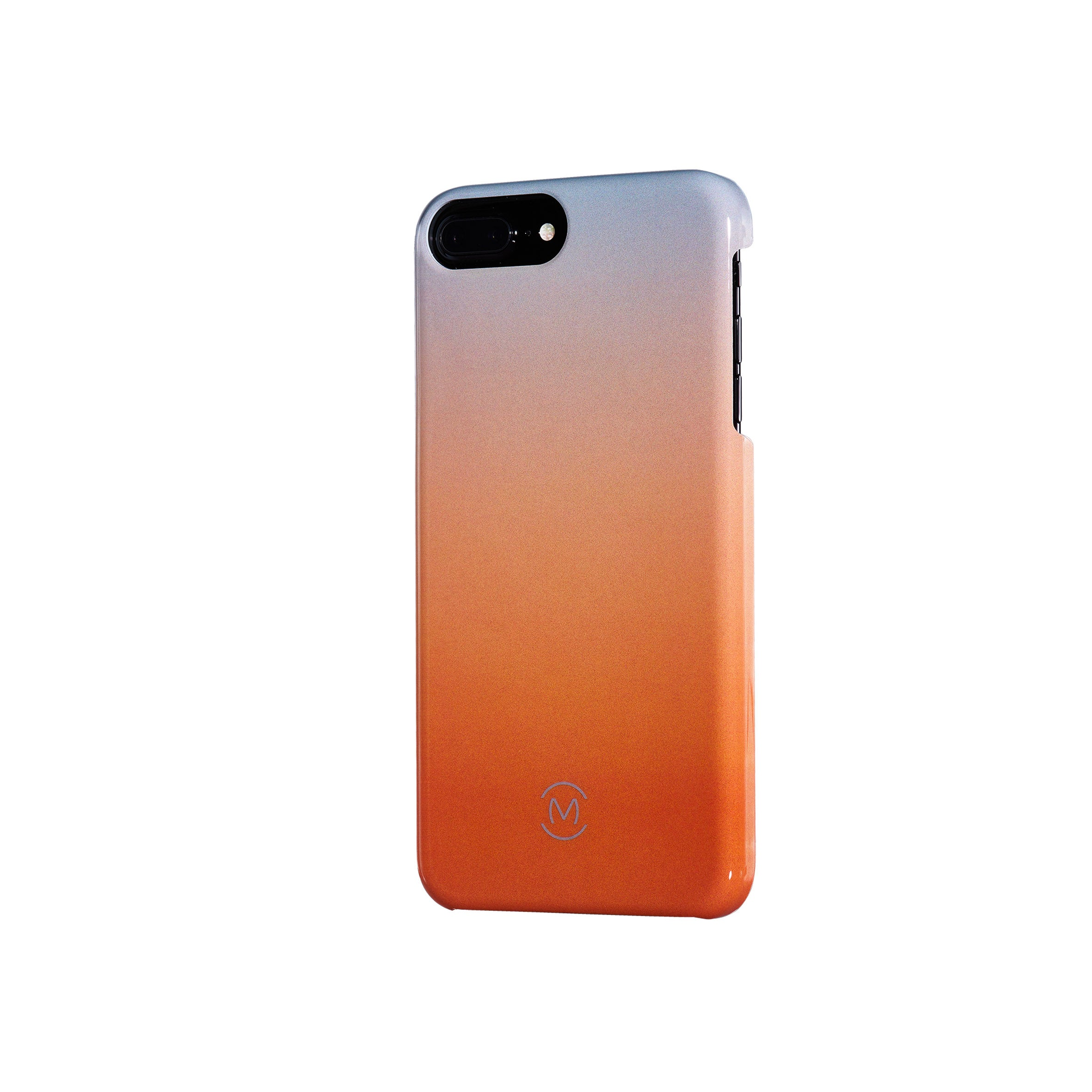 Gray-Orange Gradient Harvest Moon Recyclable Phone Case by Movement for iPhone 8 Plus, iPhone 7 Plus, iPhone 6s Plus, and iPhone 6 Plus (Right)
