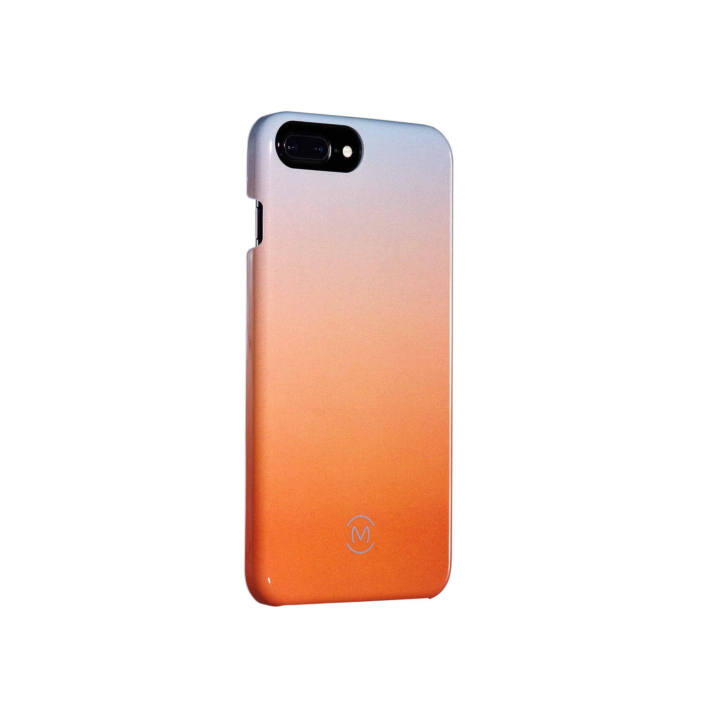 Gray-Orange Gradient Harvest Moon Recyclable Phone Case by Movement for iPhone 8 Plus, iPhone 7 Plus, iPhone 6s Plus, and iPhone 6 Plus (Left)
