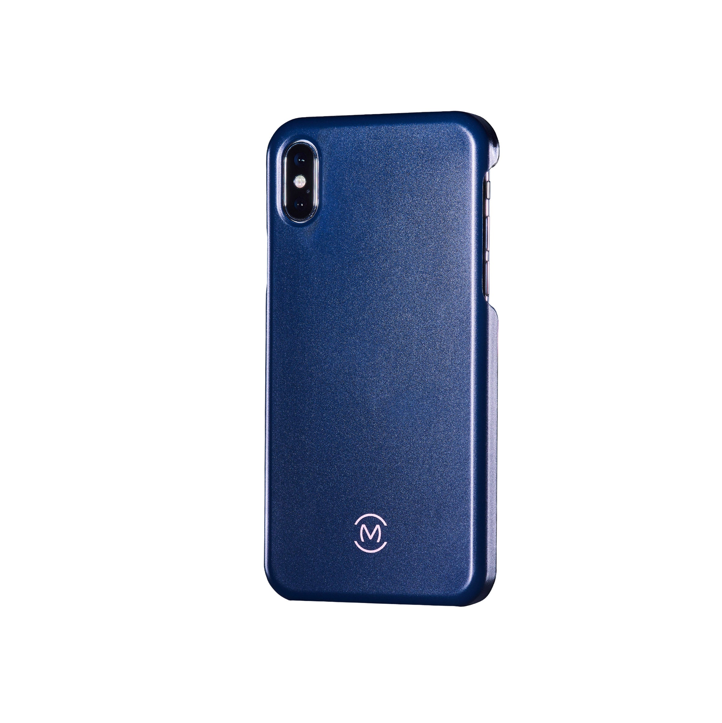 Navy Matte Lapis Lazuli Phone Case by Movement for iPhone X (Left)