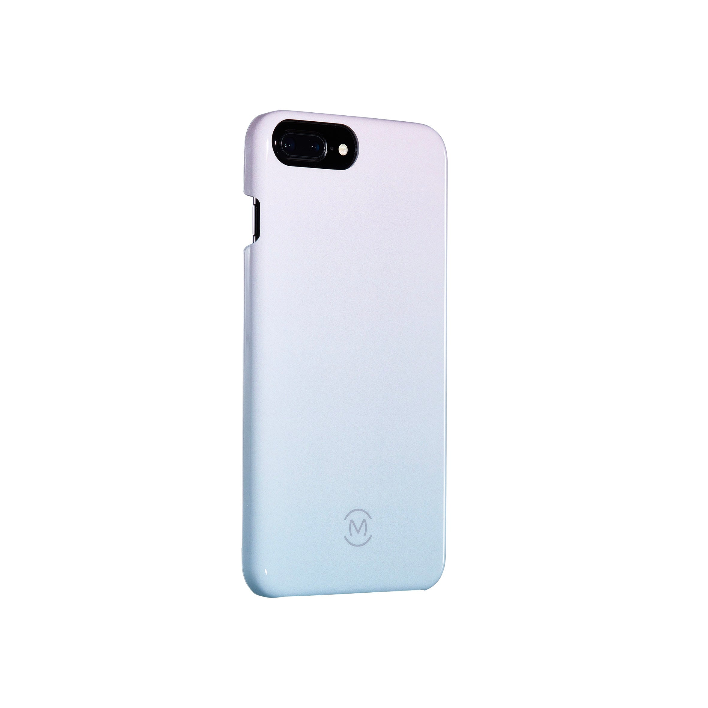 Icy Blue Gradient Sea Ice Recyclable Phone Case by Movement for iPhone 8 Plus, iPhone 7 Plus, iPhone 6s Plus, and iPhone 6 Plus (Left)