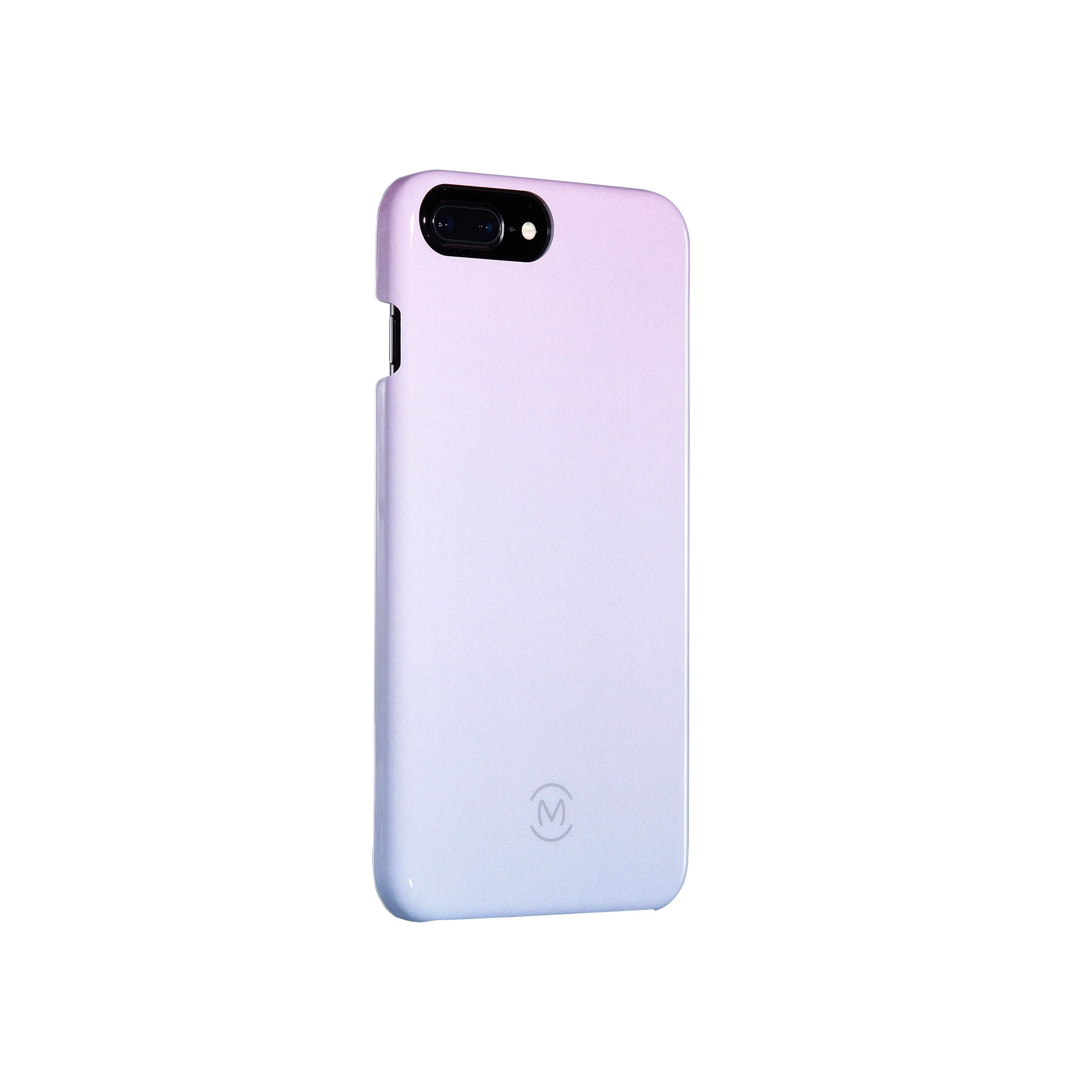 Pink-Blue Gradient Arctic Dusk Recyclable Phone Case by Movement for iPhone 8 Plus, iPhone 7 Plus, iPhone 6s Plus, and iPhone 6 Plus (Left)