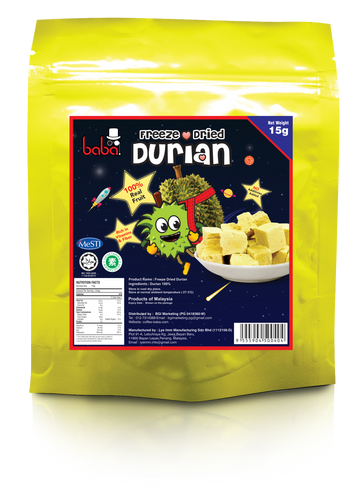 Freeze Dried Durian 15g