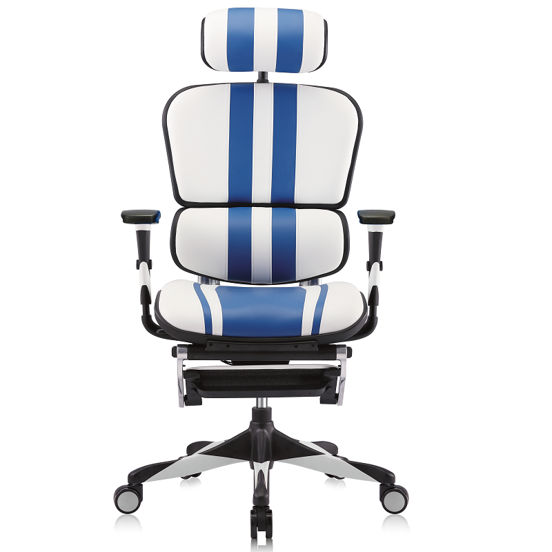 Ergofit Mars Gaming White/Blue Leather (5 Years Warranty)