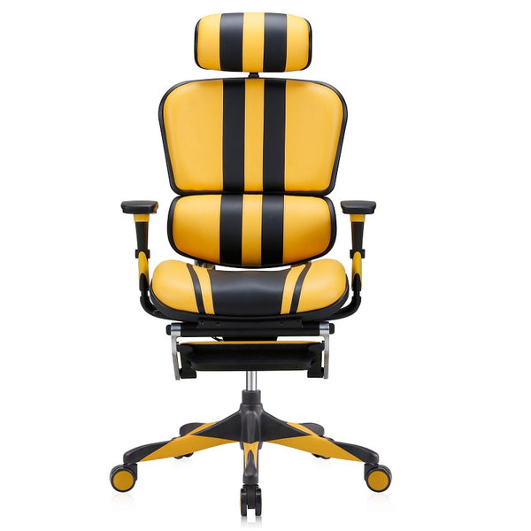 Ergofit Mars Gaming Yellow/Black Leather (5 Years Warranty)