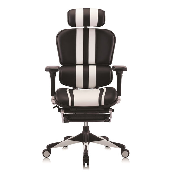 Ergohuman Elite Mars Gaming White/Black Leather (5 Years Warranty)