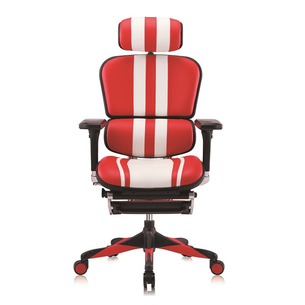 Ergohuman Elite Mars Gaming White/Red Leather (5 Years Warranty)