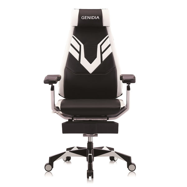 Genidia Mars Gaming White/Black Leather (5 Years Warranty)