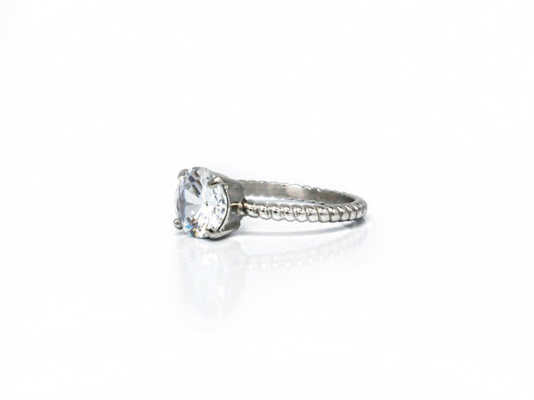 Single Solitaire - Cz Setting