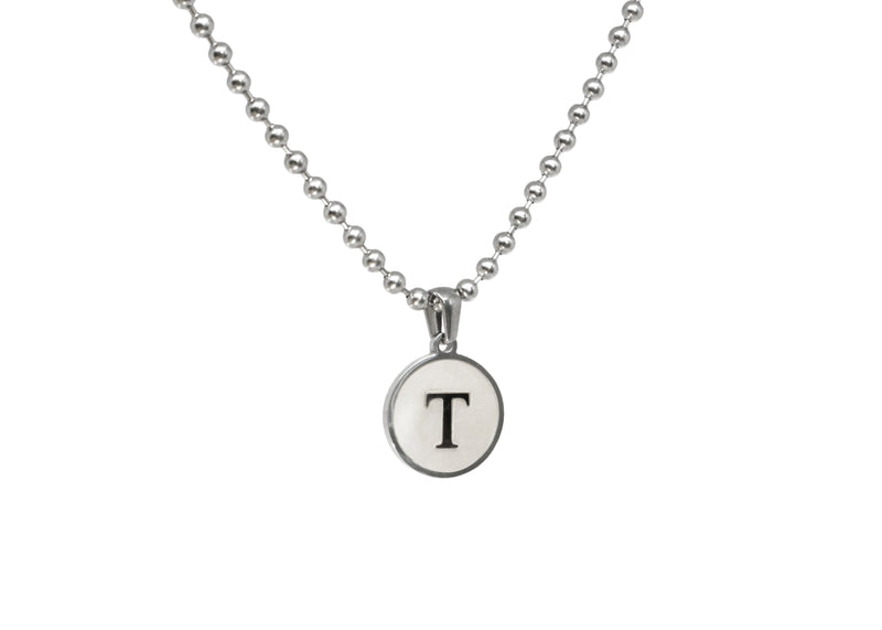 Initial Necklace (Ball Chain) - Luenzo
