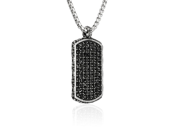 Urban - Crystal Pave Dog Tag - Luenzo