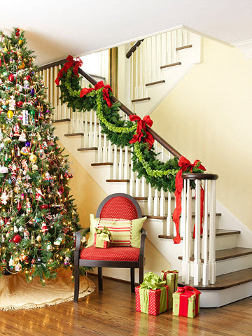 Holiday Decorating for Your Staircase