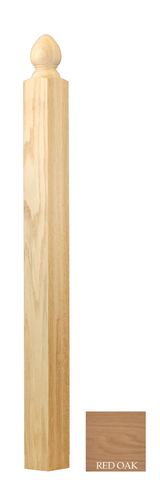 Hampton Ball Top Landing Newel | Stair parts