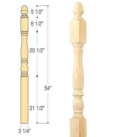 Bristol Starting Newel : C-4172 | Stair parts