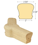 Classic 45 Degree Level Newel Cap : C-7222 | Stair parts