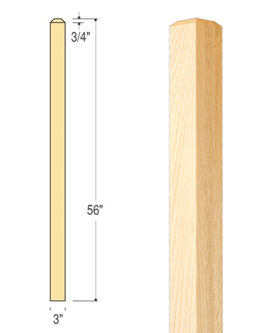 Craftsman Eased Edge Newel : C-4074 EE | Stair parts