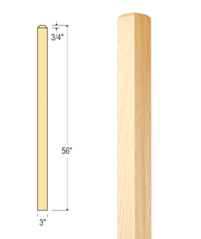 Craftsman Plain Edge Newel : C-4074 | Stair parts