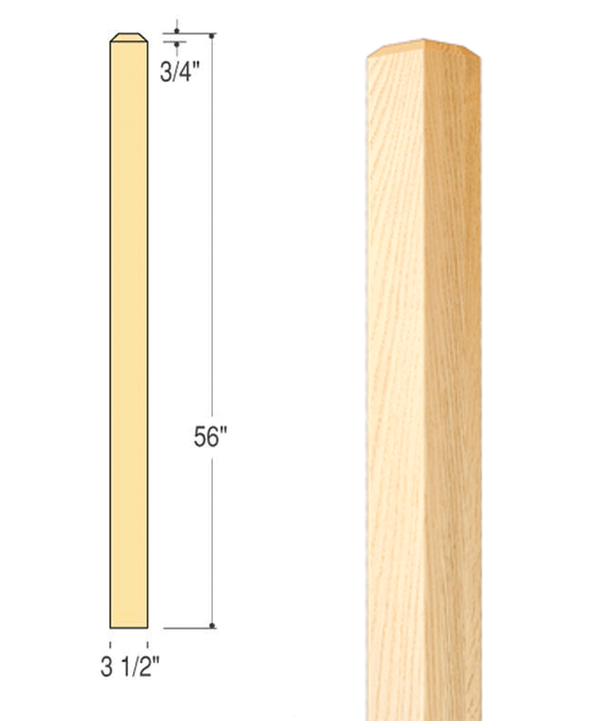 Craftsman Plain Edge Newel : C-4076 | Stair parts