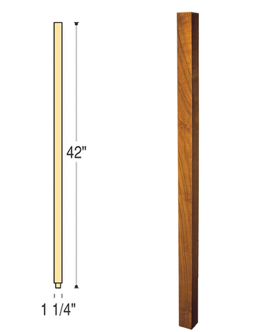 Craftsman Square Wood Baluster : C-5060 | Stair parts