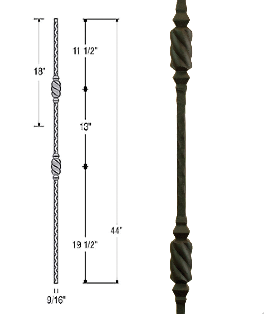 Double Beehive Iron Baluster : 2767 | Stair parts