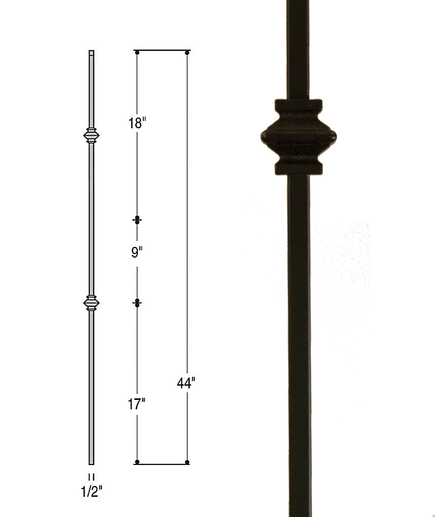 Double Knuckle Iron Baluster : 2557