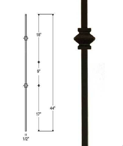 Double Knuckle Iron Baluster : 2557 | Stair parts